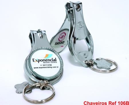 CHAVEIROS DE METAL E RESINA REF 106B